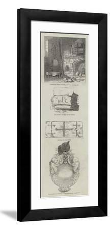 Remains of St Pancras Church in Somer's Town--Framed Giclee Print