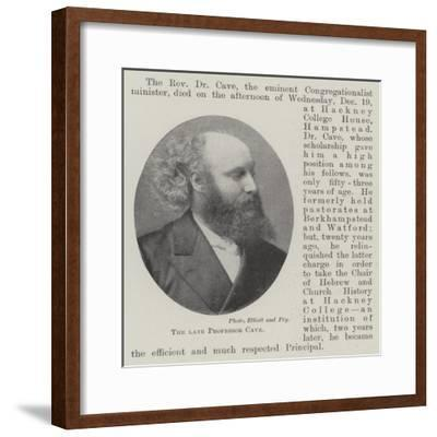 The Late Professor Cave--Framed Giclee Print