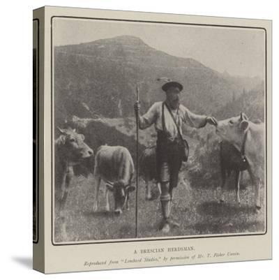 A Brescian Herdsman--Stretched Canvas Print
