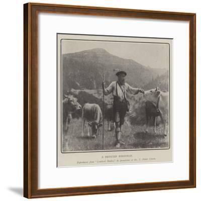 A Brescian Herdsman--Framed Giclee Print