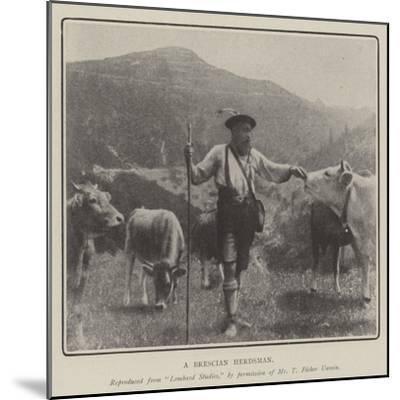 A Brescian Herdsman--Mounted Giclee Print