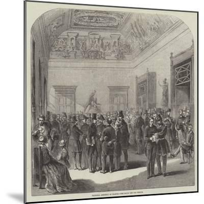 National Assembly of France, the Salle Des Perdus--Mounted Giclee Print