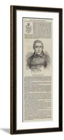 The Late Sir John Barrow--Framed Giclee Print