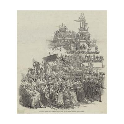 Procession of the Great National Fete at Paris, Statue of the Republic--Framed Giclee Print