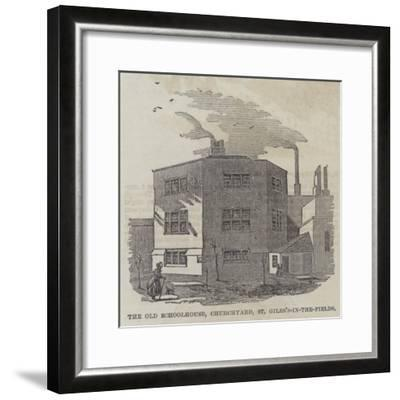 The Old Schoolhouse, Churchyard, St Giles's-In-The-Fields--Framed Giclee Print