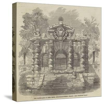 The Water-Gate of York House, Buckingham-Street, Strand--Stretched Canvas Print