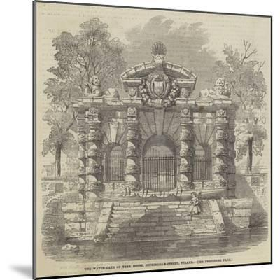 The Water-Gate of York House, Buckingham-Street, Strand--Mounted Giclee Print