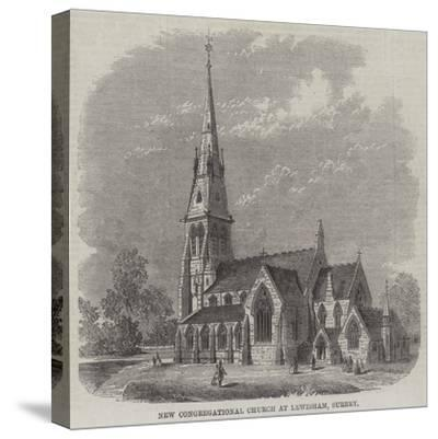 New Congregational Church at Lewisham, Surrey--Stretched Canvas Print
