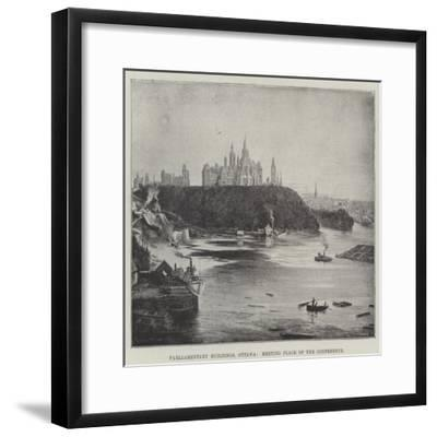 Parliamentary Buildings, Ottawa, Meeting Place of the Conference--Framed Giclee Print