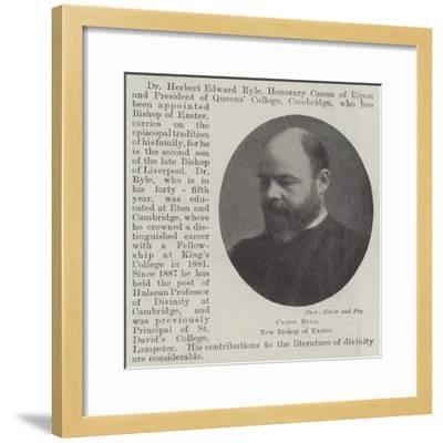 Canon Ryle, New Bishop of Exeter--Framed Giclee Print