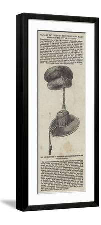 Cap and Hat Worn by the Sword and Mace Bearers of the City of Coventry--Framed Giclee Print