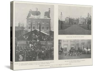 Princess Christian's Visit to Earl Spencer at Althorp Park--Stretched Canvas Print