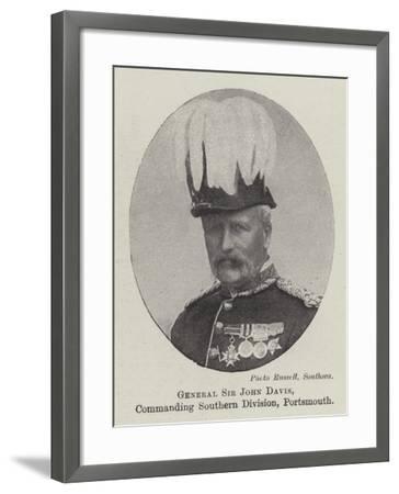 General Sir John Davis, Commanding Southern Division, Portsmouth--Framed Giclee Print