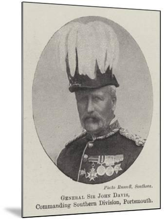 General Sir John Davis, Commanding Southern Division, Portsmouth--Mounted Giclee Print