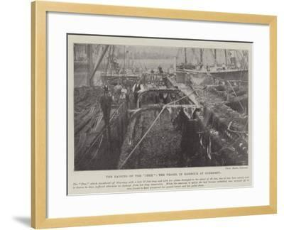 The Raising of the Ibex, the Vessel in Harbour at Guernsey--Framed Giclee Print