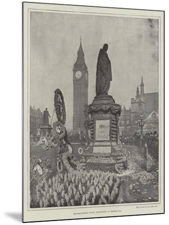 The Beaconsfield Statue, Westminster, on Primrose Day--Mounted Giclee Print