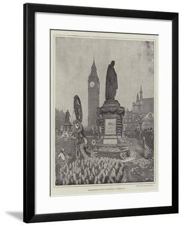 The Beaconsfield Statue, Westminster, on Primrose Day--Framed Giclee Print