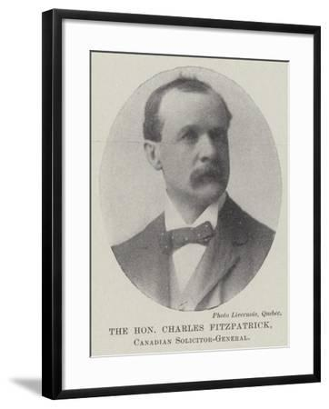 The Honourable Charles Fitzpatrick, Canadian Solicitor-General--Framed Giclee Print