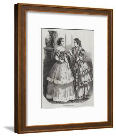 Paris Fashions for June--Framed Giclee Print
