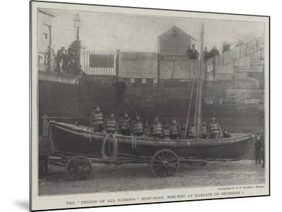 The Friend of All Nations Surf-Boat, Wrecked at Margate on 1 December--Mounted Giclee Print
