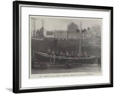 The Friend of All Nations Surf-Boat, Wrecked at Margate on 1 December--Framed Giclee Print