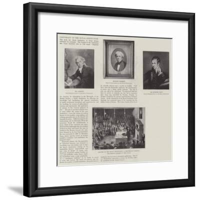 Centenary of the Royal Institution--Framed Giclee Print