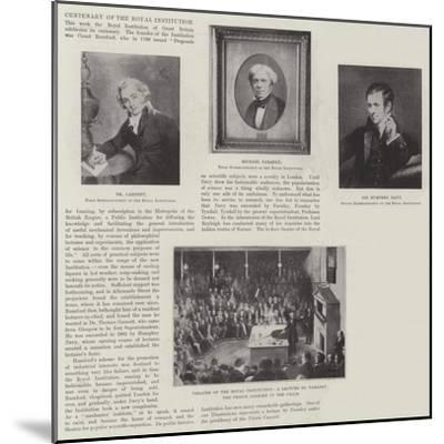 Centenary of the Royal Institution--Mounted Giclee Print