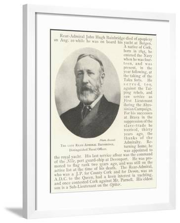 The Late Rear-Admiral Bainbridge, Distinguished Naval Officer--Framed Giclee Print