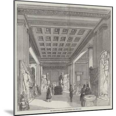 The Nineveh Room, at the British Museum--Mounted Giclee Print