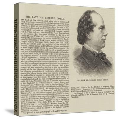 The Late Mr Richard Doyle, Artist--Stretched Canvas Print