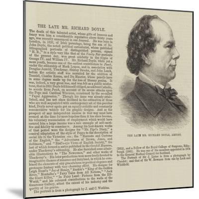 The Late Mr Richard Doyle, Artist--Mounted Giclee Print
