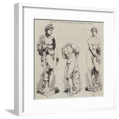Marble Statues Found in Windsor Forest--Framed Giclee Print