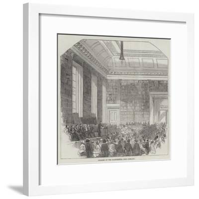 Opening of the Manchester Free Library--Framed Giclee Print