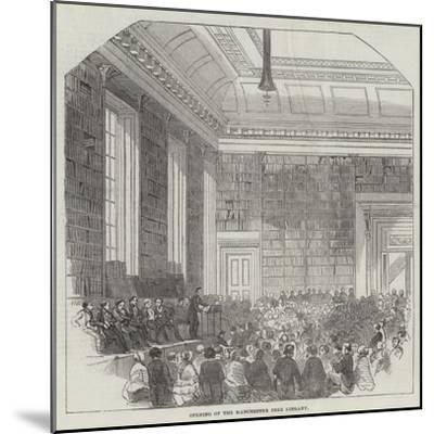 Opening of the Manchester Free Library--Mounted Giclee Print