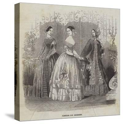 Fashions for December--Stretched Canvas Print