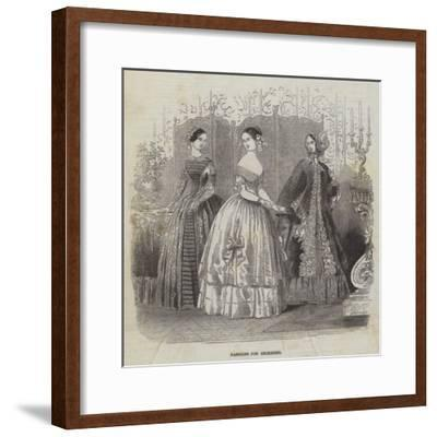 Fashions for December--Framed Giclee Print