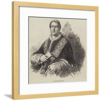 The New Pope, Pius Ix--Framed Giclee Print