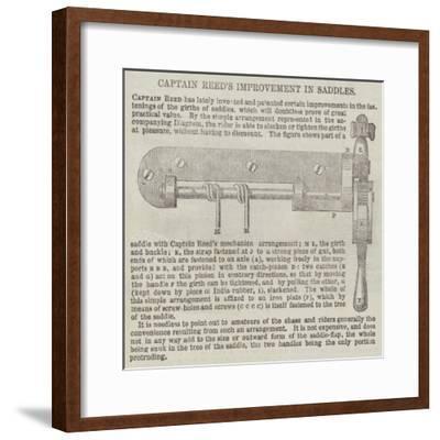 Captain Reed's Improvement in Saddles--Framed Giclee Print