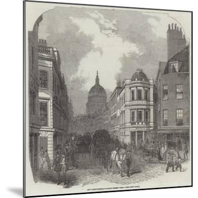 City Improvements, Cannon-Street West--Mounted Giclee Print