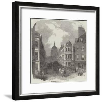 City Improvements, Cannon-Street West--Framed Giclee Print
