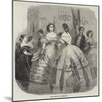 Paris Fashions for February--Mounted Giclee Print