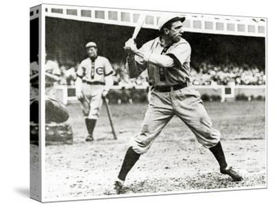 Joe Tinker of the Chicago Cubs in Action During 1906--Stretched Canvas Print