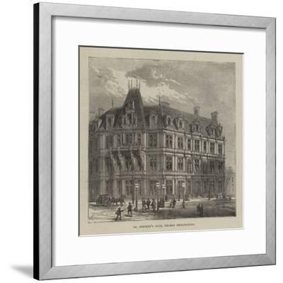 St Stephen's Club, Thames Embankment--Framed Giclee Print