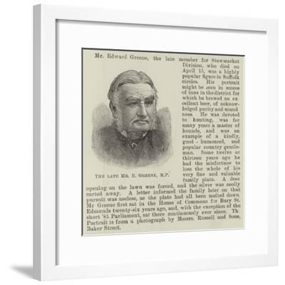 The Late Mr E Greene--Framed Giclee Print