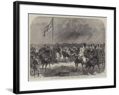 Review of the Guards and Volunteers Last Saturday, on Wimbledon Common--Framed Giclee Print