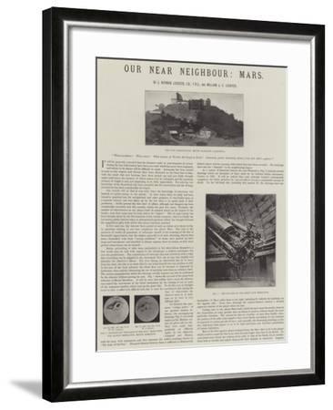 Our Near Neighbour, Mars--Framed Giclee Print