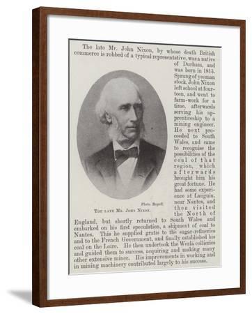 The Late Mr John Nixon--Framed Giclee Print