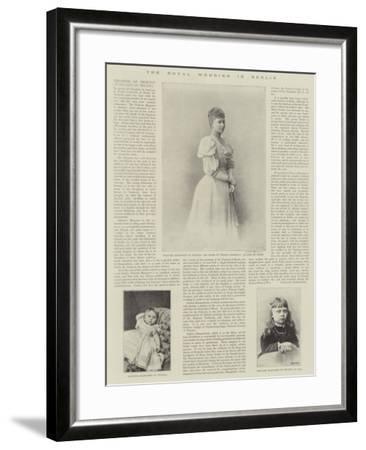 The Royal Wedding in Berlin--Framed Giclee Print