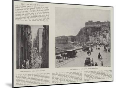 The Pick-Axe in Naples--Mounted Giclee Print