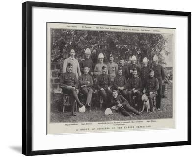 A Group of Officers of the Karene Expedition--Framed Giclee Print